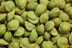 Wasabi snack peanuts. Photo shot of wasabi snack peanuts Stock Photos