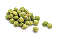 Wasabi snack peanuts Stock Photo