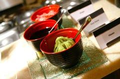 Wasabi y salsa de soja Fotografía de archivo