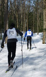 Wasaga Loppet - Feb 14, 2009. Celebrating Winter and Valentine's Day in Canada. Wasaga Nordic Centre in Wasaga Beach, Ontario hosted a 10 and 20 kilometer cross Royalty Free Stock Image