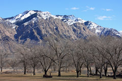 Wasatch front mountains Royalty Free Stock Photos