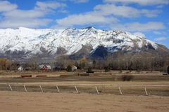 Wasatch front mountains Stock Photos