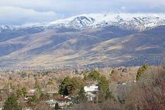 North Salt Lake, Utah. Wasatch Front mountains above North Salt Lake City Royalty Free Stock Images