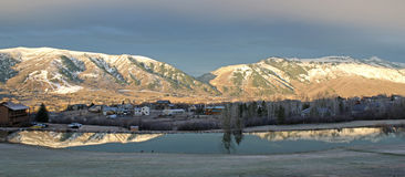 Wasatch Front mountains at Wolf Creek Royalty Free Stock Photos