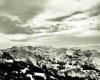 Wasatch Mountain Range in Park City, Utah. Black and White landscape, Wasatch Mountain Range in Park City, Utah Royalty Free Stock Photos