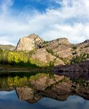 Wasatch Reflection. Lake Lillian, Twin Peaks Wilderness, Utah Royalty Free Stock Image
