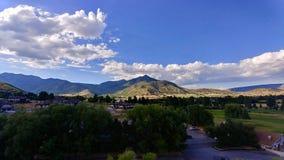Wasatchbergen bij Middenweg, Utah royalty-vrije stock foto's