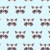Wasbeer leuk naadloos patroon, beeldverhaalachtergrond, vectorillustratie royalty-vrije illustratie