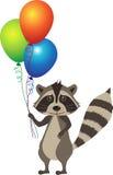 Wasbeer met Ballons Royalty-vrije Stock Afbeelding