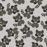 Wasbeer naadloos patroon/behang Royalty-vrije Stock Afbeelding