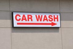 Waschanlage Signage Lizenzfreie Stockbilder