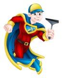 Waschanlage-Superheld lizenzfreie abbildung