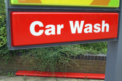 Waschanlagezeichen Stockbild