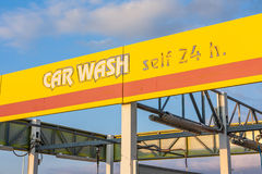 Waschanlagezeichen, Nahaufnahme Lizenzfreie Stockfotografie