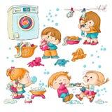Waschen lizenzfreie abbildung