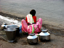 Waschen auf den Straßen stockfoto