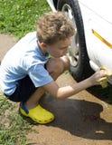 Waschen des Autos Lizenzfreie Stockfotografie