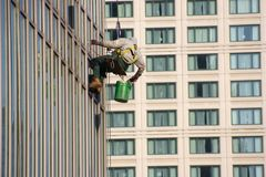 Waschende Fenster Lizenzfreie Stockbilder