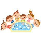 Waschende Kinder, Hand Lizenzfreies Stockfoto
