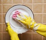 Waschende Platte Lizenzfreies Stockfoto