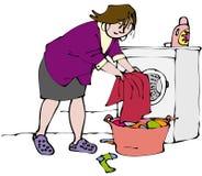 Waschende Wäscherei lizenzfreie abbildung