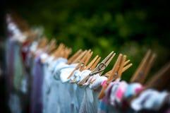 Waschende Zeile lizenzfreie stockfotografie