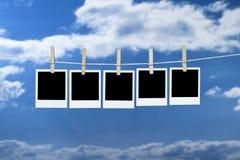 Waschende Zeile Lizenzfreies Stockfoto