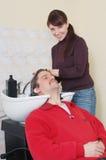 Waschender Kopf Lizenzfreie Stockfotografie