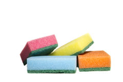Waschender Schwamm Stockfoto