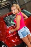 Waschendes Auto Lizenzfreie Stockfotos