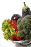 Waschendes Gemüse stockbilder