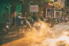 Waschendes motocycle Stockfotografie