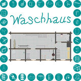 Waschhaus Stock Image
