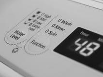 WASCHMASCHINE LCD-INDIKATOR stockfotografie