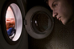Waschmaschinekonzept Lizenzfreie Stockfotografie