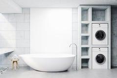 Waschmaschinenbadezimmer, konkret stock abbildung