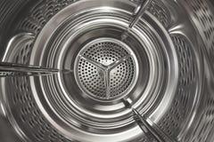 Waschmaschinestahltrommel stockbild