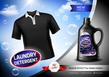 Waschmittel-dunkles Gewebe-Plakat stock abbildung