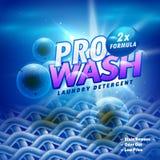 Waschmittelprodukt-Verpackungsgestaltung mit Stofffaser remo lizenzfreie abbildung