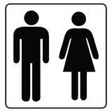 Waschraum-Zeichenmann und Frau lizenzfreie abbildung