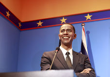 Wascijfer van voorzitters barak obama Stock Fotografie