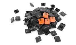 WASD-Schlüssel - Illustration 3d Lizenzfreies Stockfoto