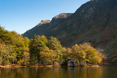 Wasdale boathouse. A boathouse on the banks of Wastwater with the Screes in the background Royalty Free Stock Photos