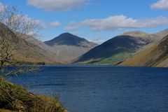 Wasdale Head along Wastwater. View along Wastwater in Wasdale looking towards the head of the lake Royalty Free Stock Photography