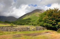 Wasdale Head, Cumbria. Wasdale Head near Wast Water, the Lake District, Cumbria, England Royalty Free Stock Photos