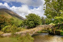 Wasdale Head, Cumbria. The old packhorse bridge at Wasdale Head near Wast Water, the Lake District, Cumbria, England Royalty Free Stock Images