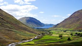 Wasdale head Lake district England. Beautiful landscape of Wasdale head in the Lake district area in England Royalty Free Stock Photo
