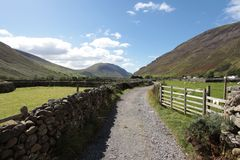 Wasdale head Lake district England. Beautiful landscape of Wasdale head in the Lake district area in England Stock Photography