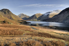 Wasdale Valley in Winter. Wasdale and Wast Water on a bright winters day.  English Lake District Royalty Free Stock Photos