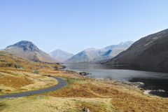 Wasdale. And Wast water in the Lake District, England, with Sca Fell (and Scafell Pike) the highest mountain in England Royalty Free Stock Photos